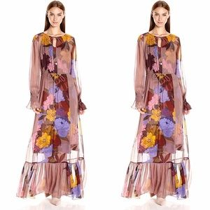 Anthropologie Tracy Reese Eudicot Silk Maxi Dress